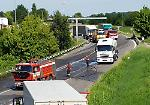Le immagini dell'incidente tra due mezzi pesanti avvenuto a Piadena