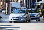 I controlli della polizia nel centro città