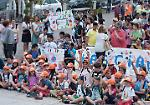La 'Marcia della pace' degli alunni delle scuole
