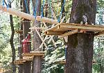 FOTO Parco acrobatico sugli alberi alle Colonie Padane