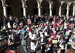 FOTO Flash mob con 250 bambini in piazza Duomo a Crema