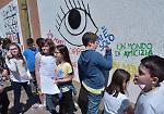 FOTO Murales contro i bulli degli alunni delle elementari di Casalmaggiore e Rivarolo del Re
