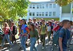 FOTO La prima campanella alle superiori per gli studenti di Casalmaggiore