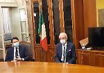 FOTO Il premier Conte in Prefettura a Cremona
