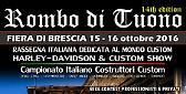 """Brescia - torna """"Rombo di Tuono""""Rassegna Italiana dedicata al Mondo Custom"""
