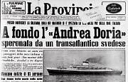 A fondo l'''Andrea Doria'', speronata da un transatlantico svedese