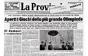 Aperti i giochi della XVII Olimpiade a Roma