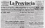 E' morta in esilio, a Montpellier,Elena Petrovich di Montenegro ex-regina d'Italia