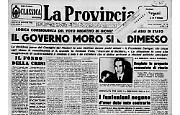 Il governo Moro rassegna le dimissioni