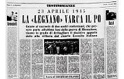 """Il 23 aprile 1945 la divisione """"Legnano"""" varca il Po"""