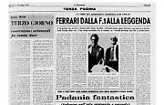 ''Ferrari lui'', il libro del giornalista cremonese Gino Rancati sul grande Enzo Ferrari. Prefazione di Enzo Biagi