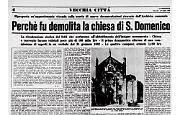 La demolizione della chiesa di San Domenico nel 1868