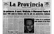 Karol Wojtyla diventa Papa Giovanni Paolo II