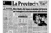 Il decreto-legge di Moro per fronteggiare la crisi determinata dalle alluvioni