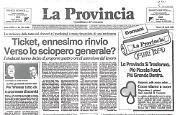 Storico numero del quotidiano 'La Provincia': è l'ultimo nel formato tradizionale. Da 23 si modernizza e diventa tabloid