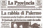 Tensione alta ai funerali del giudice Borsellino e dei cinque agenti della scorta
