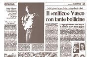 Migliaia di giovani al concerto di Vasco Rossi a Crema