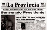 Il presidente della Repubblica Sandro Pertini, in visita ufficiale a Cremona
