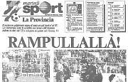 Il portiere della Cremonese Michelangelo Rampulla segna un gol di testa!