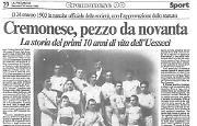 Nasce nel 1903 l'Unione Sportiva Cremonese