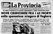 Nove cremonesi fra i 62 morti della spaventosa sciagura di Voghera