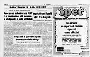 * II «saggio» Pisciotta ammonisce gli estremisti: non fatevi illusioni - * Processo schedature Fiat.