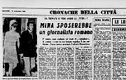 Mina sposerebbe un giornalista romano
