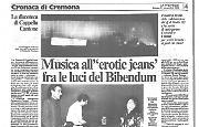 Musica all'erotic jeans' fra le luci del Bibendum