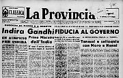 Indira Gandhi Primo Ministro dell'India