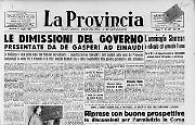 Le dimissioni del governo presentate da De Gasperi ad Einaudi