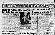 Scoperti in via Mazzini i resti di antiche mura - I Soldi ricevuti dai Pontefice