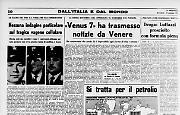 «Venus 7» ha trasmesso notizie da Venere