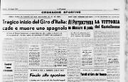Tragico inizio del Giro d'Italia: cade e muore uno spagnolo