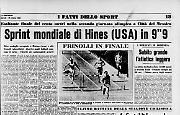 Jim Hines primo uomo jet nella storia