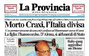 Morto Craxi, l'Italia divisa