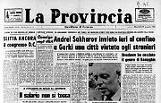 Andrei Sakharov inviato ieri al confino a Gorki una città vietata agli stranieri
