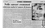Uno studio di Agostino Cavalcabò sui trattamenti nelle carceri cremonesi