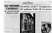 Tavolette e archi del palazzo Fodri di Cremona