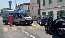 Ciclista 74enne urtato da auto, trasportato in ospedale a Crema