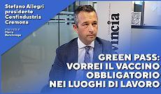 Green pass, Stefano Allegri: vorrei il vaccino obbligatorio nei luoghi di lavoro