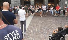In piazza Stradivari contro il Green Pass obbligatorio