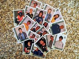L'album di figurine con gli atleti di Monticelli