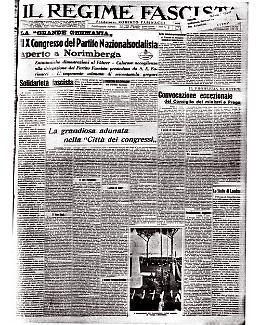 Il X Congresso del Partito Nazionalsocialista aperto a Norimberga