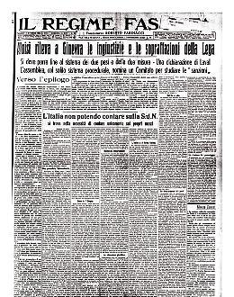 La Lega delle Nazioni denuncia l'occupazione italiana dell'Abissinia