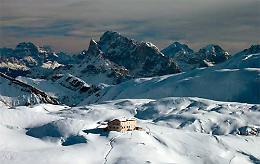 Due passi sull'Altopiano Distese innevate ai piedi delle Pale di San Martino
