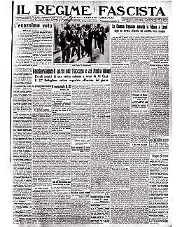 Quando - nel '15 - Mussolini veniva arrestato per aver difeso Francia e Inghilterra