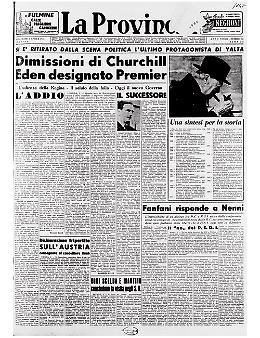 Winston Churchill si è dimesso. Robert Eden è il successore