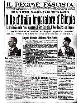 Il re d'Italia, Vittorio Emanuele III, è l'Imperatore d'Etiopia