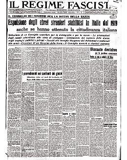 Espulsione degli ebrei stranieri stabilitisi in Italia dal 1919