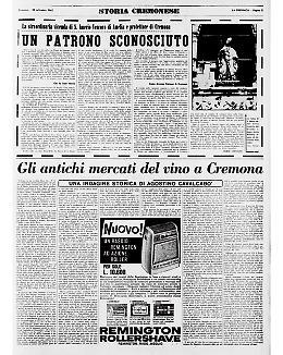 S. Imerio, patrono sconosciuto; gli antichi mercati del vino a Cremona
